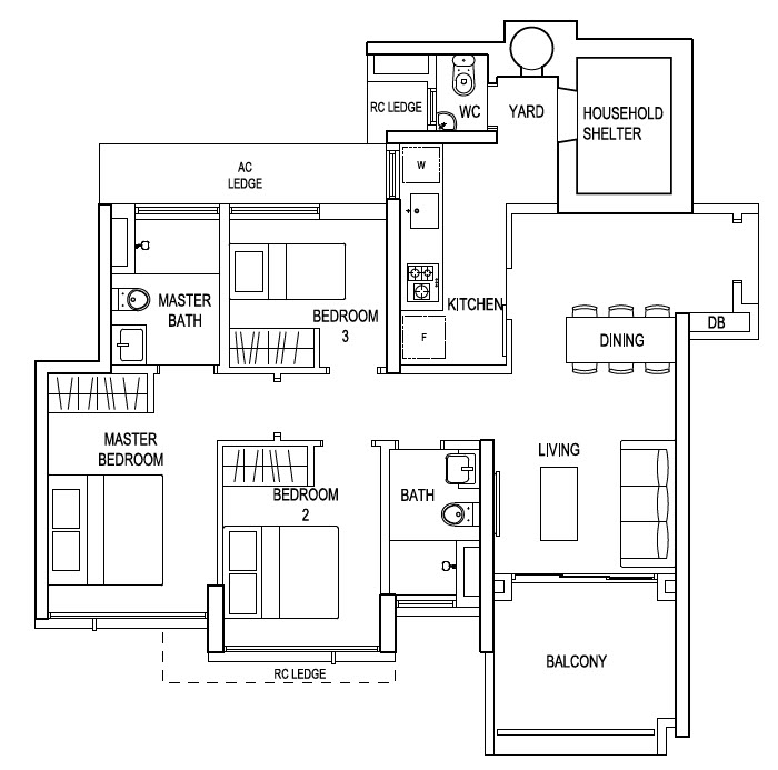 Building Plans Typical  Bedroom
