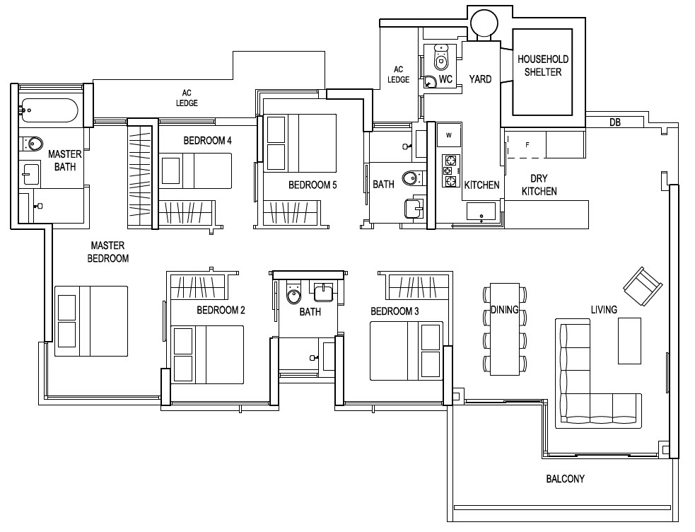 The terrace ec floor plans for Terrace layout
